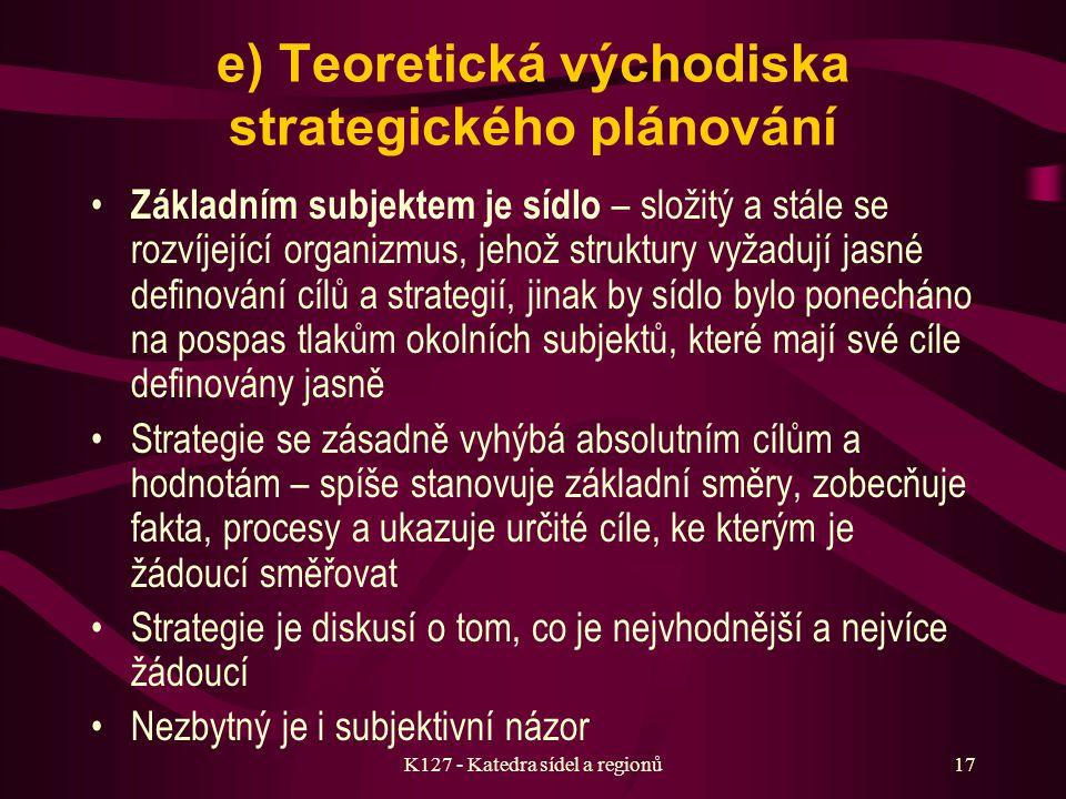 K127 - Katedra sídel a regionů16 2. Budoucí problémy rozvoje sídel v ČR a z nich vyplývající úkoly Zostření rozporu mezi tzv. potřebami a možnostmi je