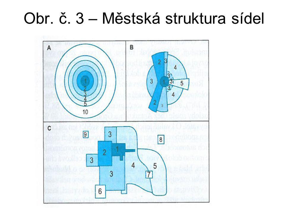 Obr. č. 3 – Městská struktura sídel