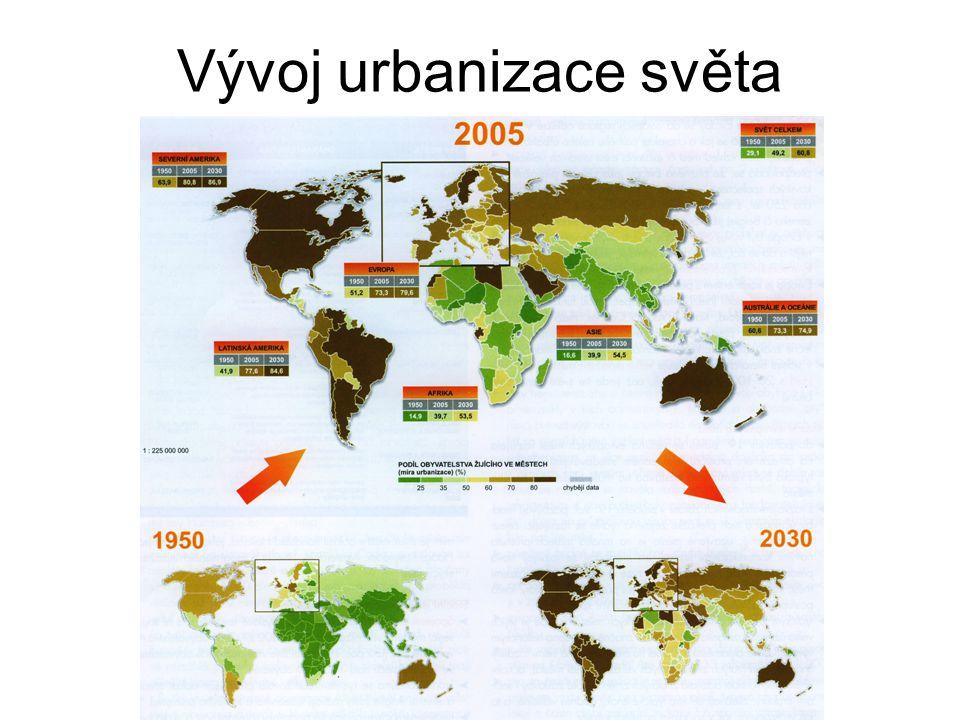 Vývoj urbanizace světa