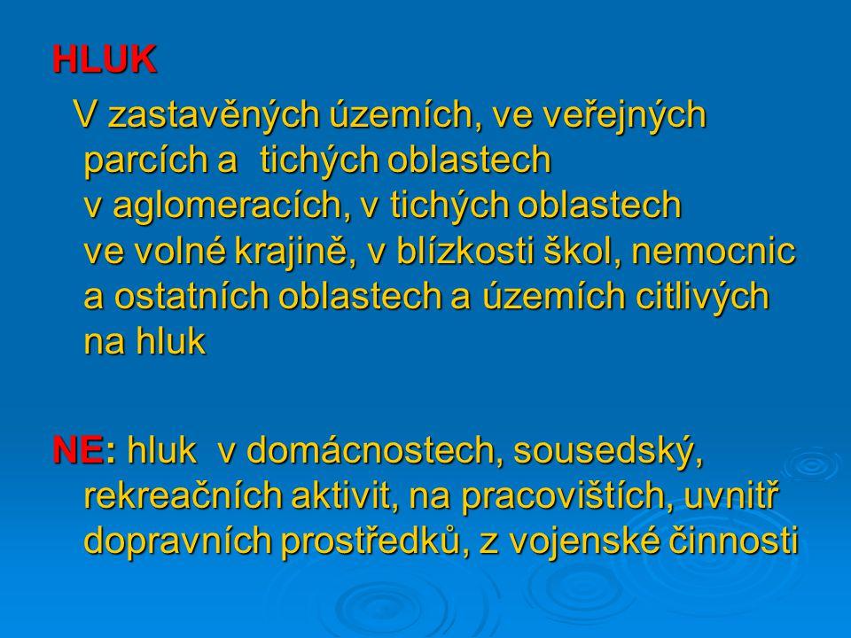 ÚKOLY Ministerstvo zdravotnictví - pořizuje a aktualizuje strategické hlukové mapy - zpřístupňuje je veřejnosti www.mzcr.cz→portál kvality→ veřejné zdraví→hlukové mapy - upravuje výpočet hlukových ukazatelů, jejich mezní hodnoty, požadavky na obsah SHM a AP - pořizuje souhrn akčního plánu na základě AP předložených KÚ a MD