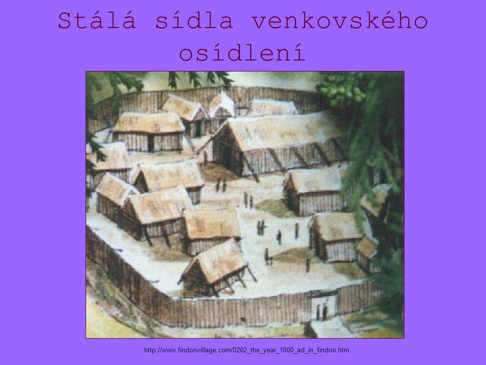 Stálá sídla venkovského osídlení http://www.findonvillage.com/0202_the_year_1000_ad_in_findon.htm