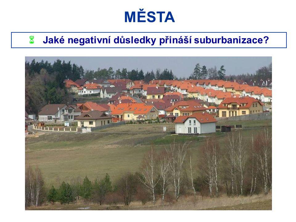  Jaké negativní důsledky přináší suburbanizace? MĚSTA
