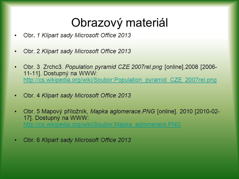 Obrazový materiál Obr. 1 Klipart sady Microsoft Office 2013 Obr.