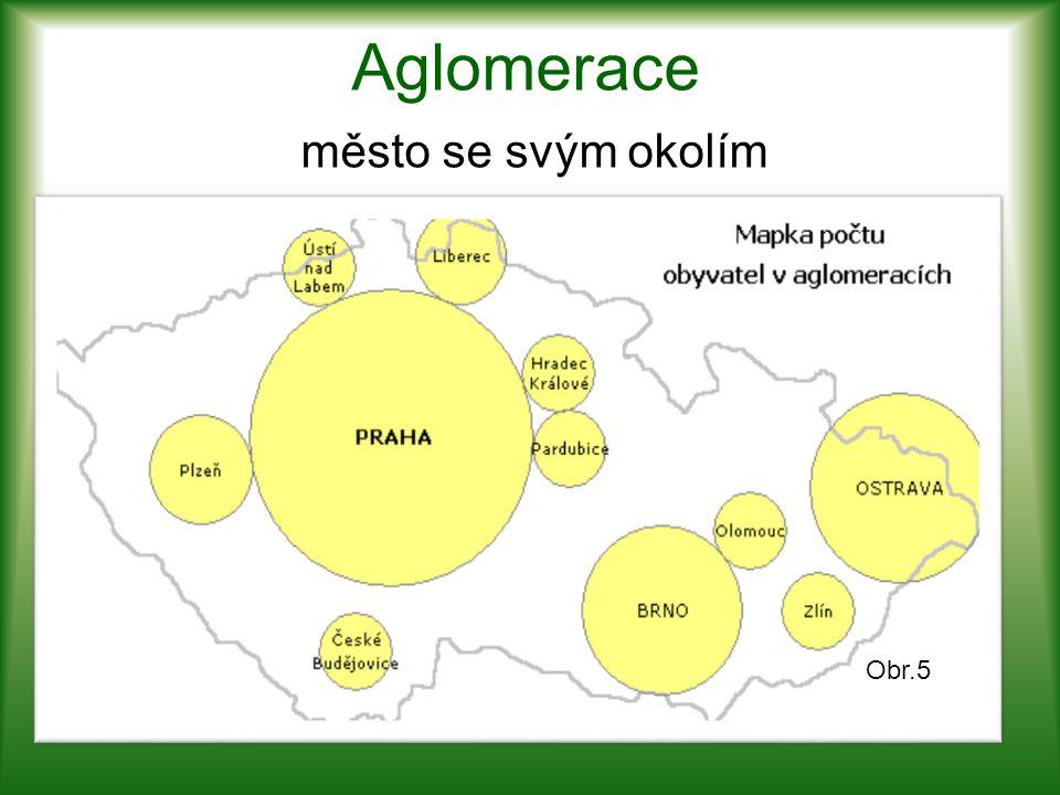 Aglomerace město se svým okolím Obr.5