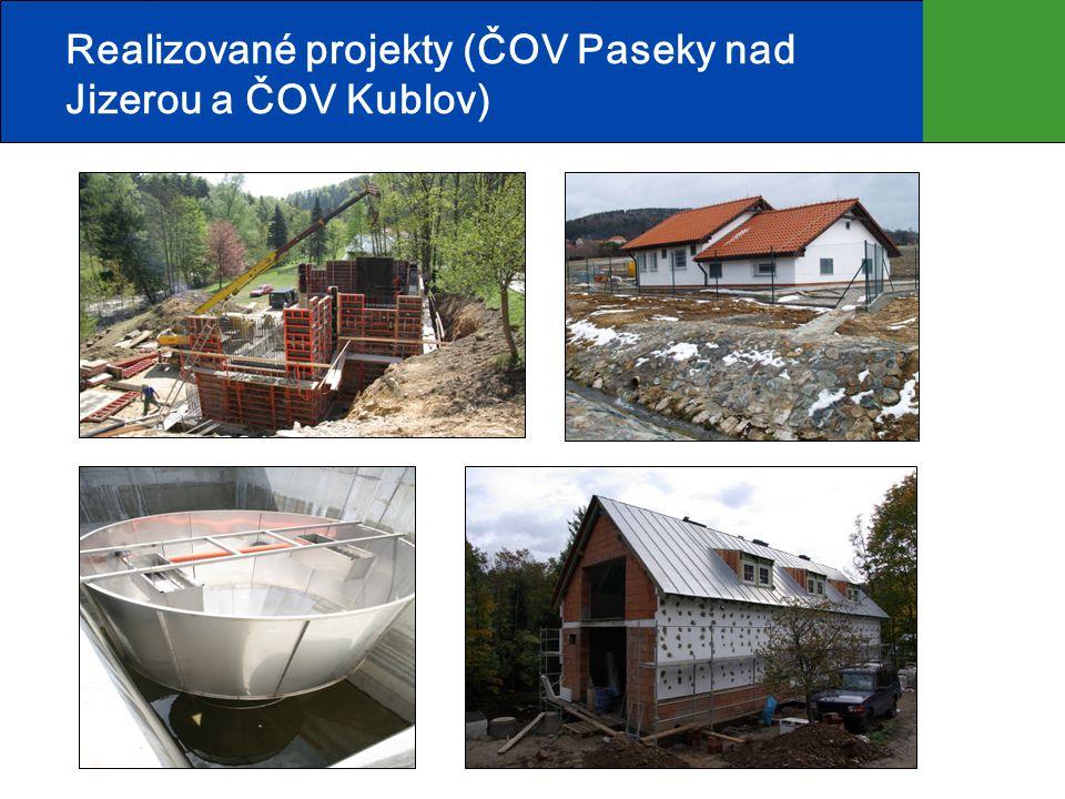 Realizované projekty (ČOV Paseky nad Jizerou a ČOV Kublov)