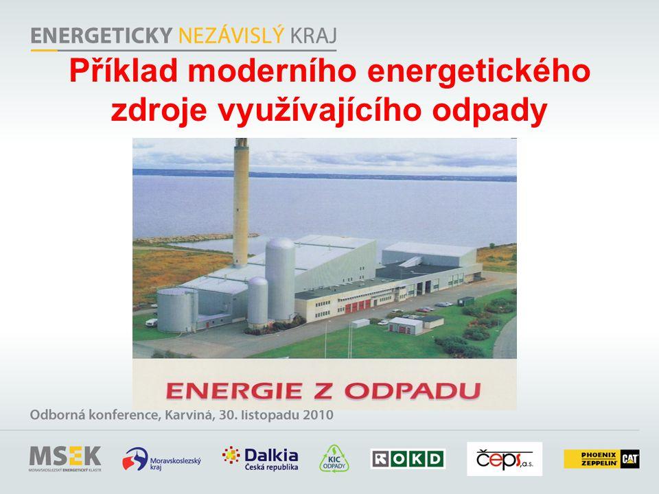 Příklad moderního energetického zdroje využívajícího odpady