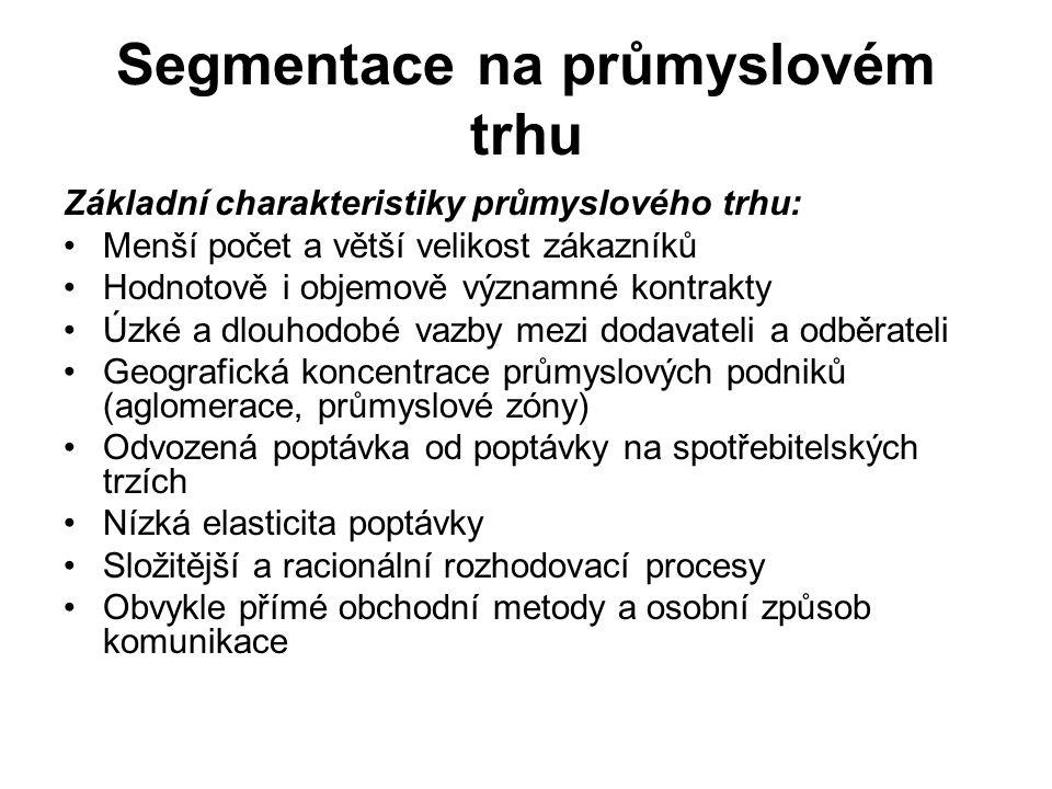 Segmentace zemí střední a východní Evropy