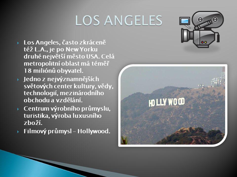  Los Angeles, často zkráceně též L.A., je po New Yorku druhé největší město USA. Celá metropolitní oblast má téměř 18 miliónů obyvatel.  Jedno z nej