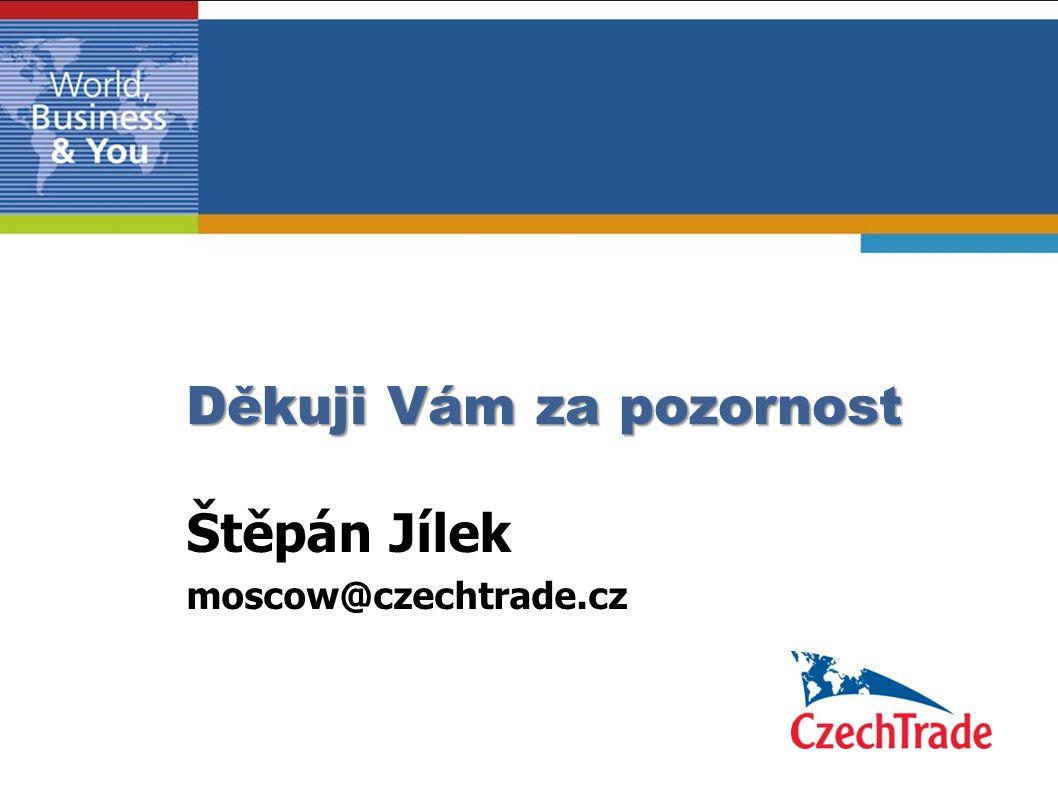 Děkuji Vám za pozornost Štěpán Jílek moscow@czechtrade.cz