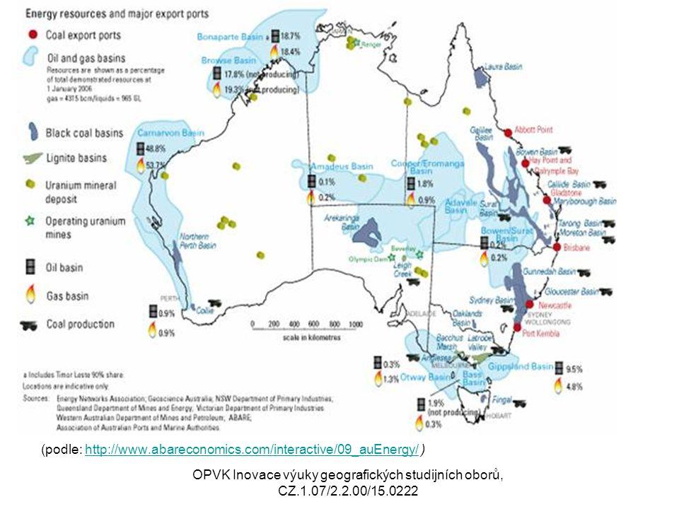 i (podle: http://www.abareconomics.com/interactive/09_auEnergy/ )http://www.abareconomics.com/interactive/09_auEnergy/ OPVK Inovace výuky geografickýc