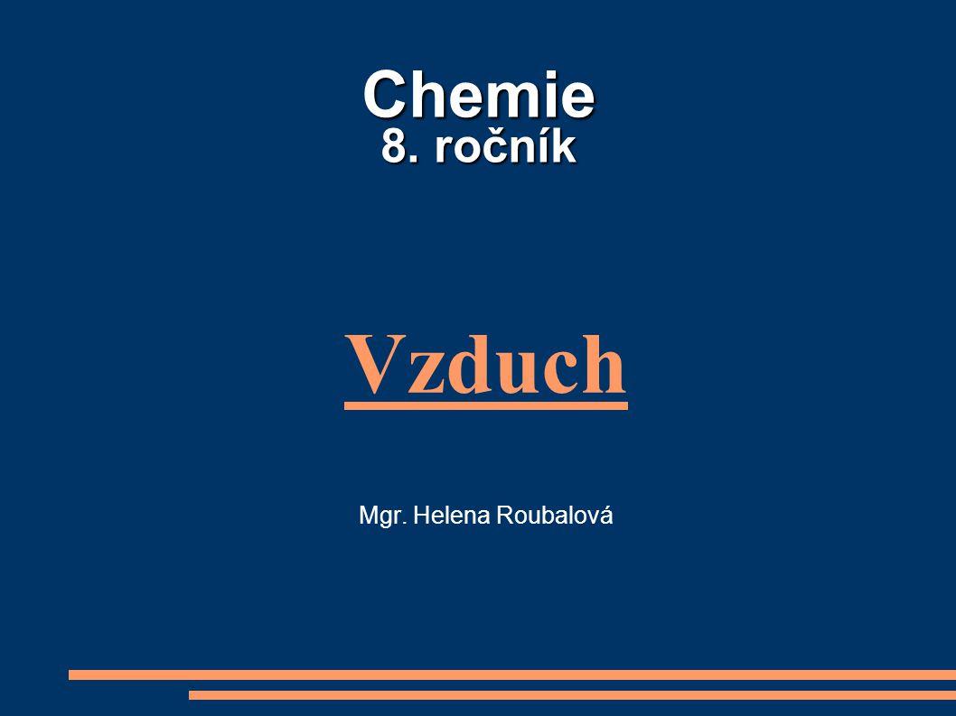 Chemie 8. ročník Vzduch Mgr. Helena Roubalová