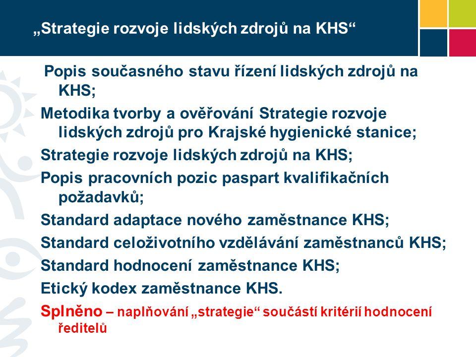 """""""Strategie rozvoje lidských zdrojů na KHS"""" Popis současného stavu řízení lidských zdrojů na KHS; Metodika tvorby a ověřování Strategie rozvoje lidskýc"""