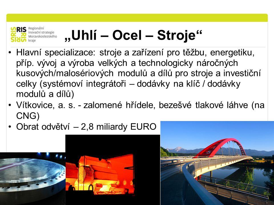 """""""Uhlí – Ocel – Stroje Hlavní specializace: stroje a zařízení pro těžbu, energetiku, příp."""