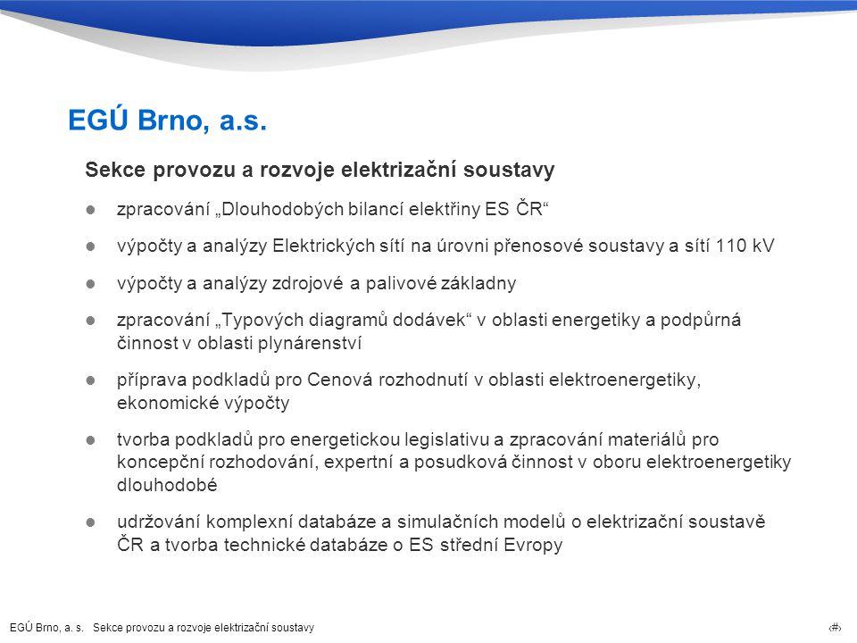 EGÚ Brno, a. s. Sekce provozu a rozvoje elektrizační soustavy 3 EGÚ Brno, a.s.