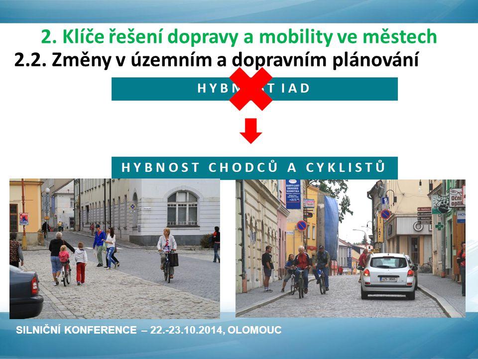 2.2. Změny v územním a dopravním plánování SILNIČNÍ KONFERENCE – 22.-23.10.2014, OLOMOUC