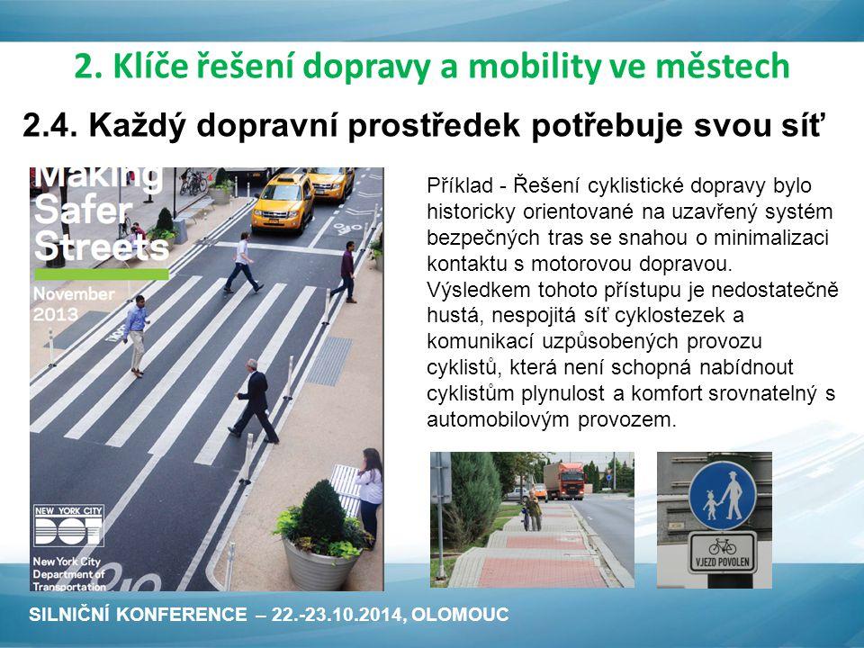 Příklad - Řešení cyklistické dopravy bylo historicky orientované na uzavřený systém bezpečných tras se snahou o minimalizaci kontaktu s motorovou dopravou.