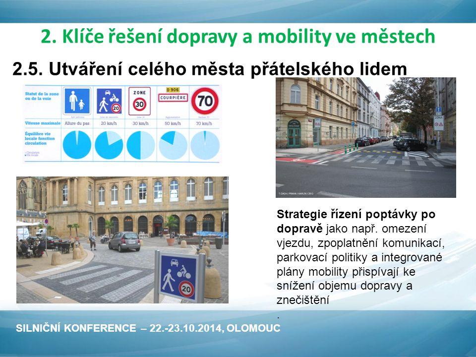 Strategie řízení poptávky po dopravě jako např.