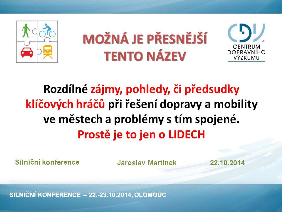 2.Klíče řešení dopravy a mobility ve městech 2.3.