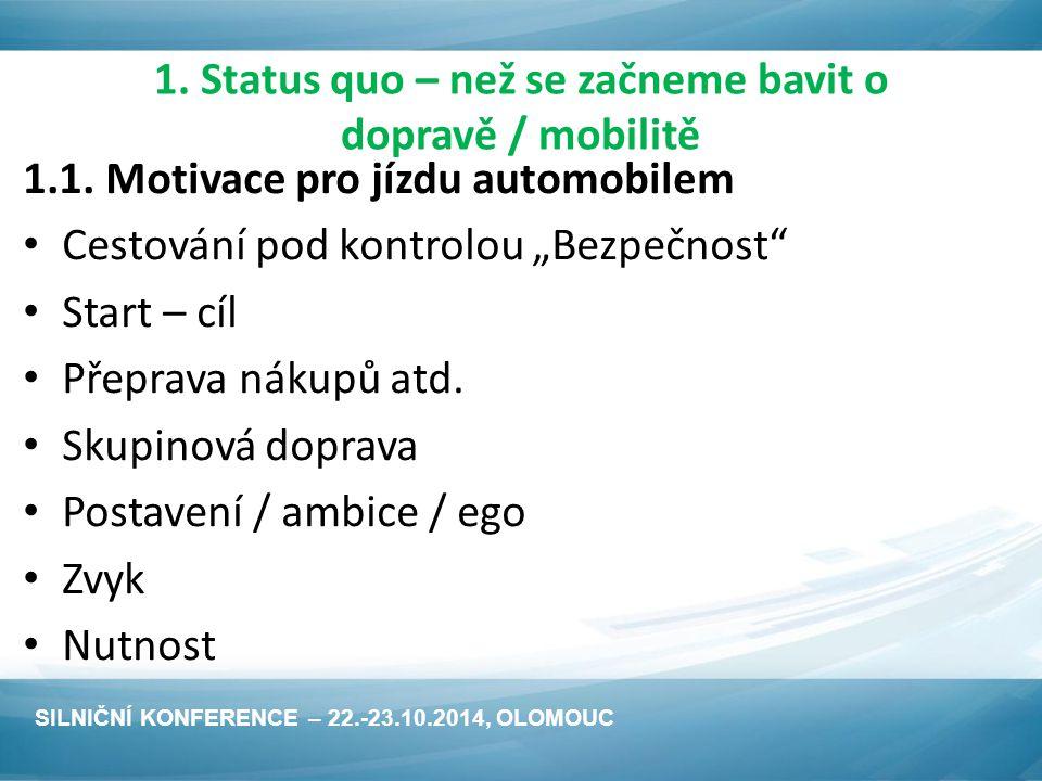 1. Status quo – než se začneme bavit o dopravě / mobilitě 1.1.