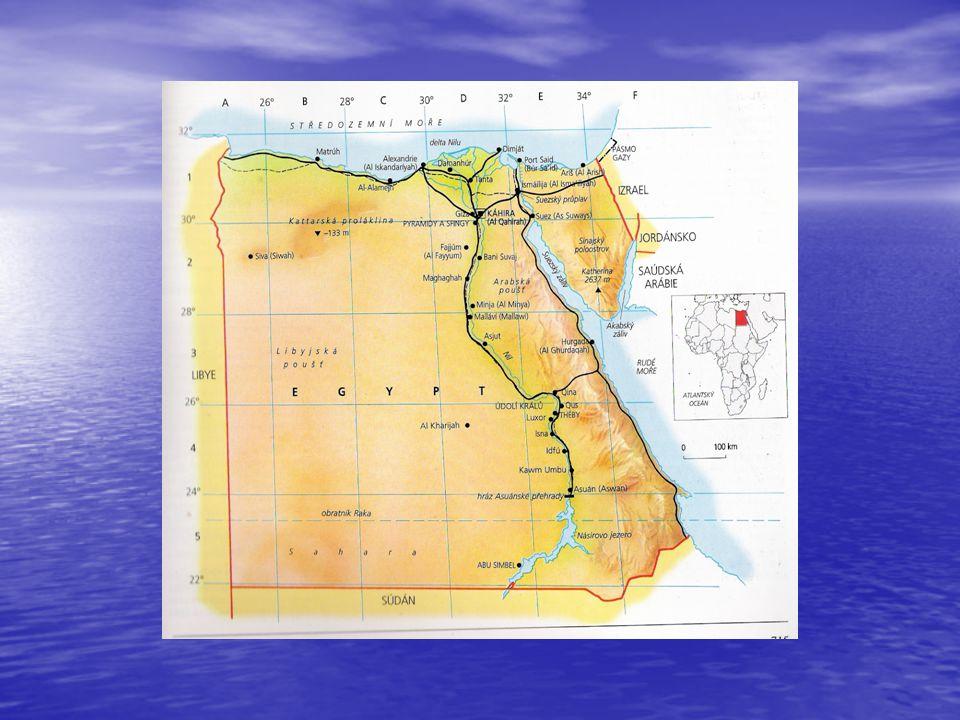 Popis státu Egyptská arabská republika je země protikladů, země rozpáleného pouštního písku, krás podmořského života, země faraónů a pyramid, země, kde Nil dal vzniknout jedné z nejstarších civilizací na světě.