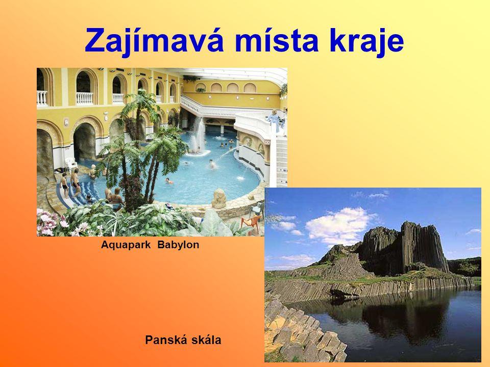 Zajímavá místa kraje Aquapark Babylon Panská skála