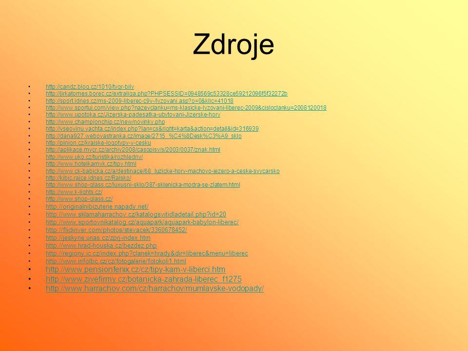 Zdroje http://candz.blog.cz/1010/tygr-bily http://jirkatomes.borec.cz/extraliga.php?PHPSESSID=0948569c53328ce59212096f5f32272b http://sport.idnes.cz/m