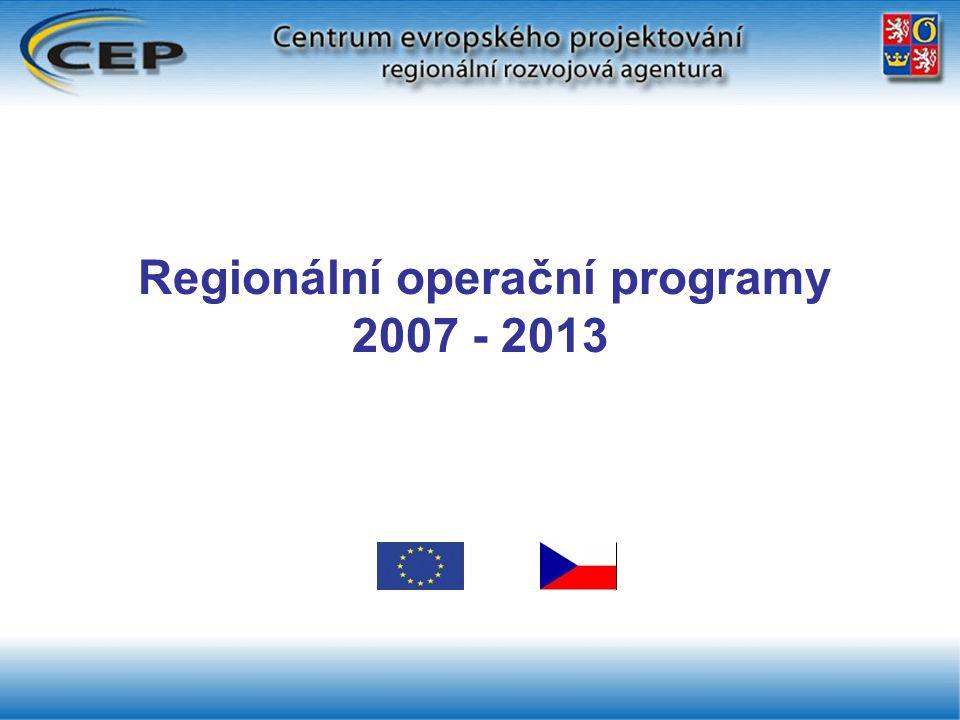Regionální operační programy 2007 - 2013