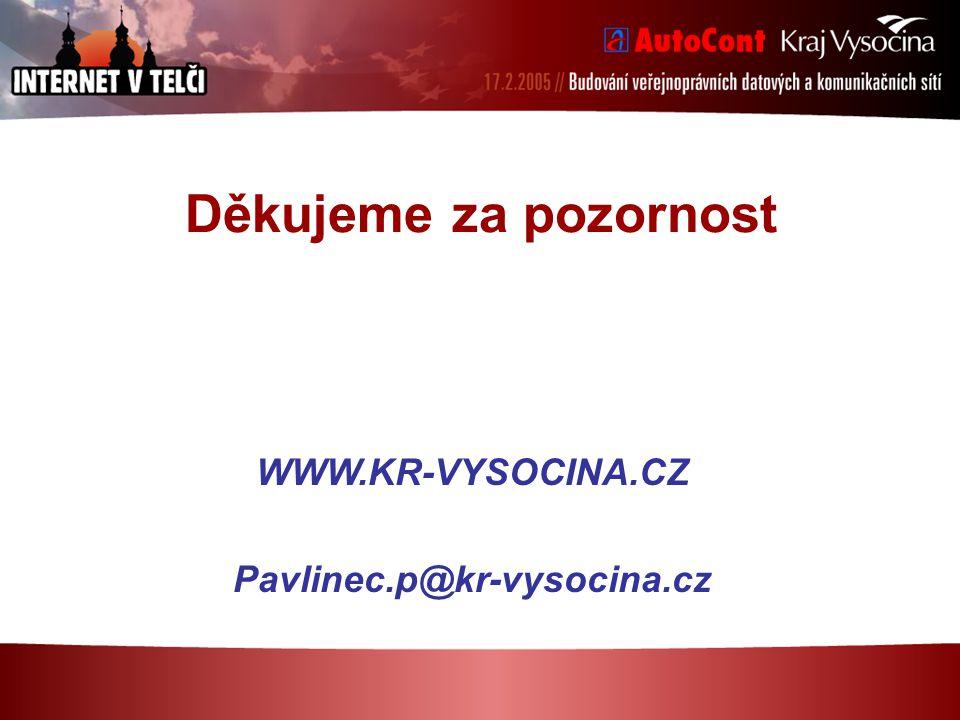 Děkujeme za pozornost WWW.KR-VYSOCINA.CZ Pavlinec.p@kr-vysocina.cz
