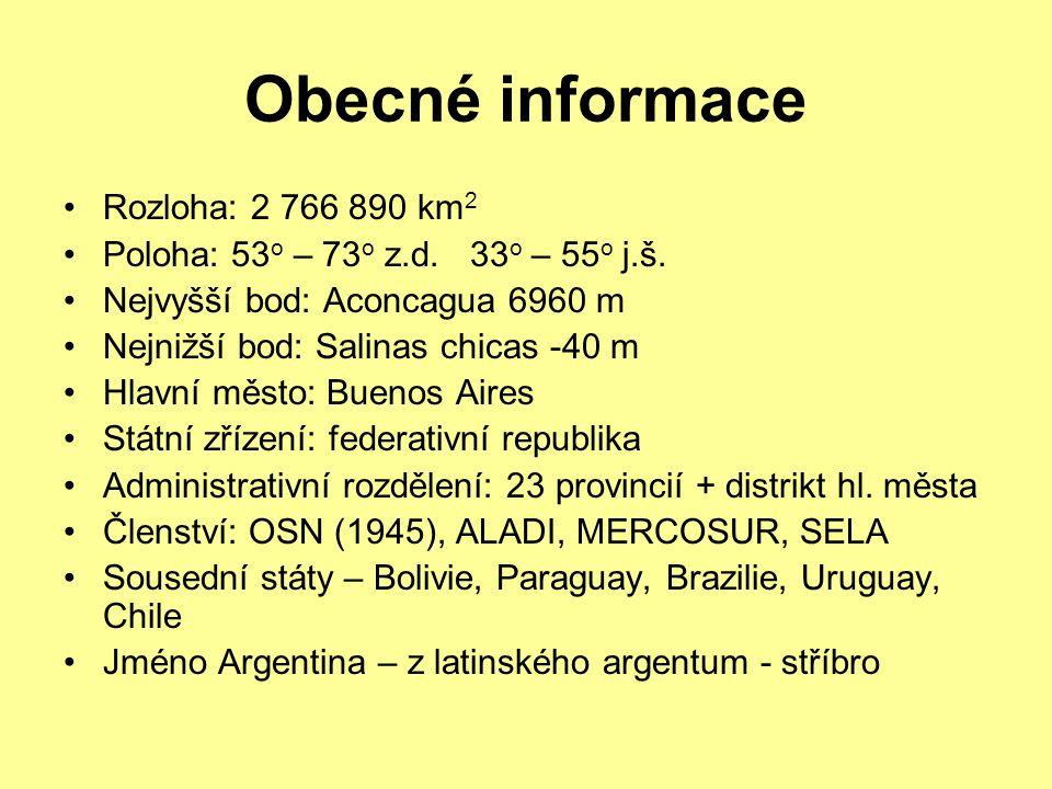 Obecné informace Rozloha: 2 766 890 km 2 Poloha: 53 o – 73 o z.d.