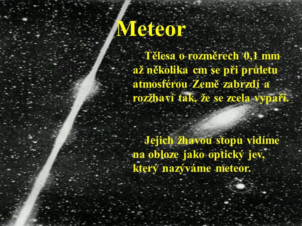 Meteoroid Mezi planetkami a meteoroidy neexistuje přesná hranice.