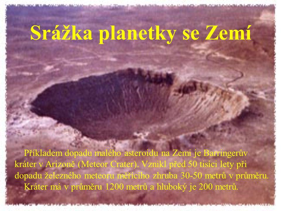 Srážka planetky se Zemí Před 65 miliony let došlo ke srážce Země s asteroidem o průměru 10 km.
