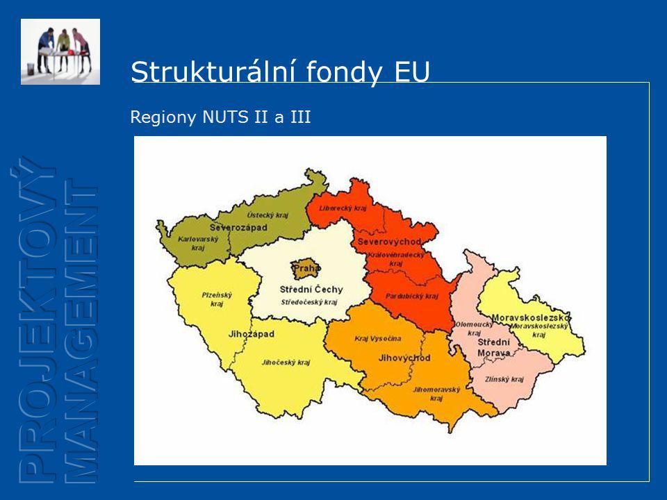 Strukturální fondy EU Regiony NUTS II a III