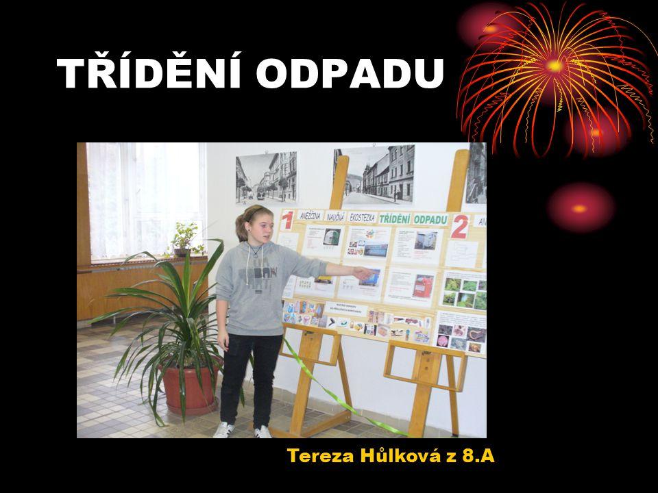 TŘÍDĚNÍ ODPADU Tereza Hůlková z 8.A