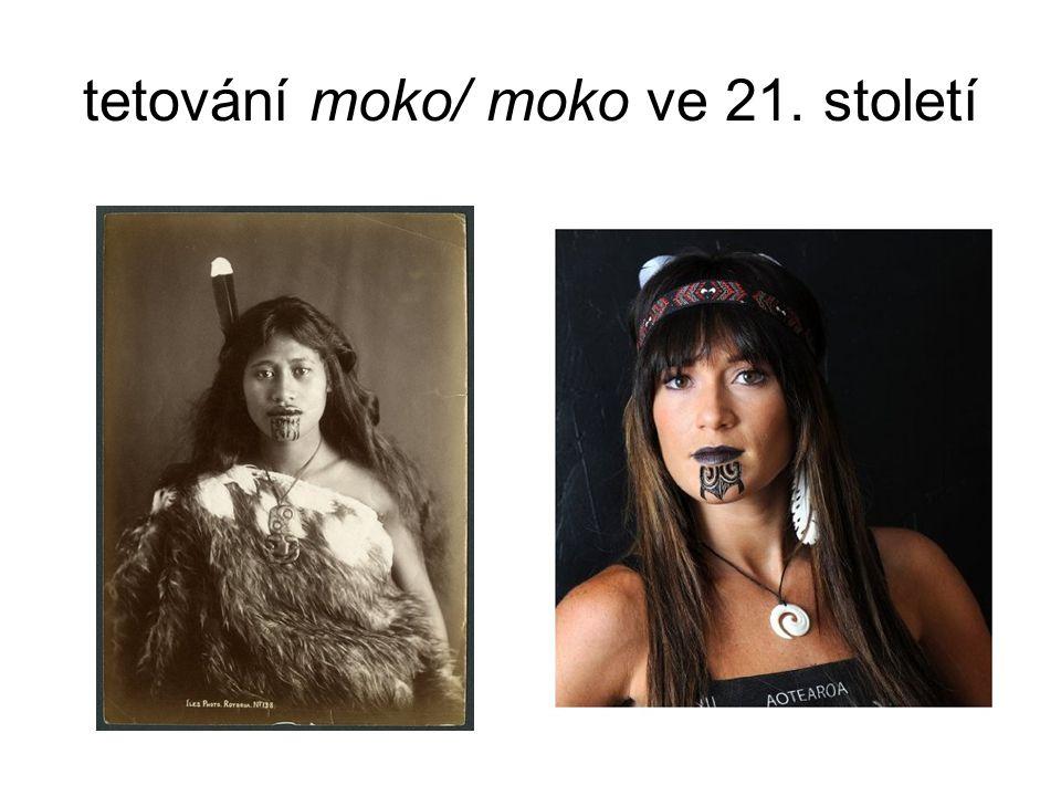 tetování moko/ moko ve 21. století