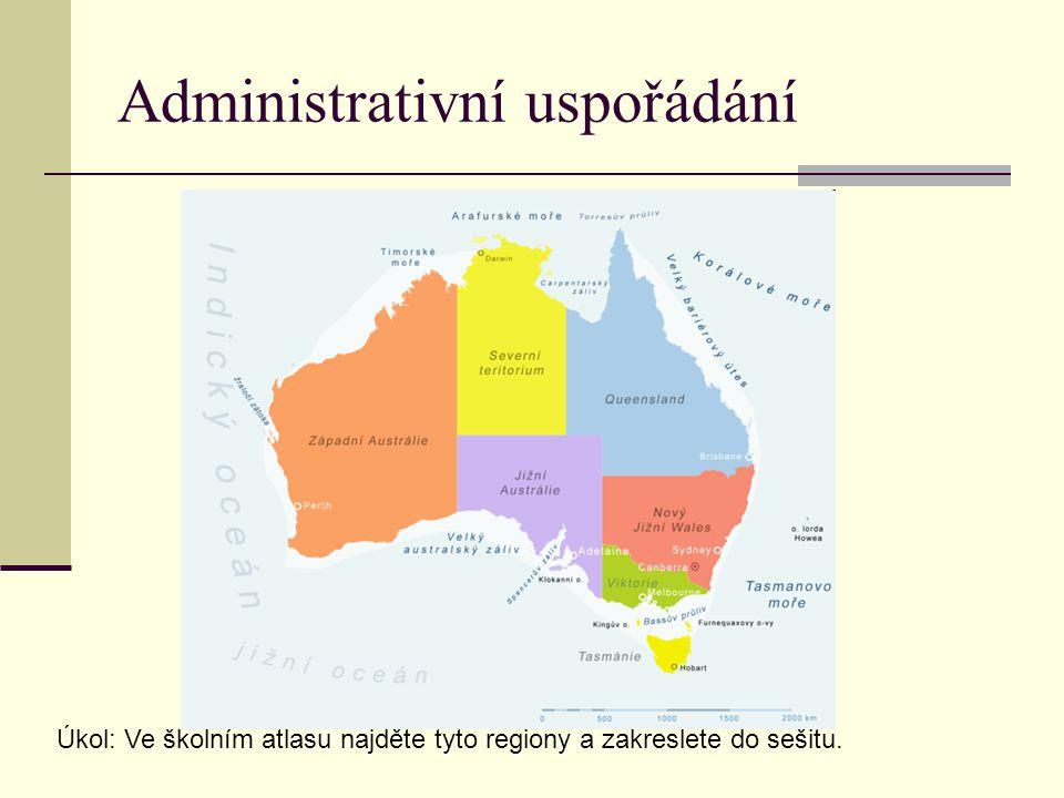 Klimatické zóny Austrálie Úkol: Na mapě Biosféra urči a najdi tyto klimatické zóny.