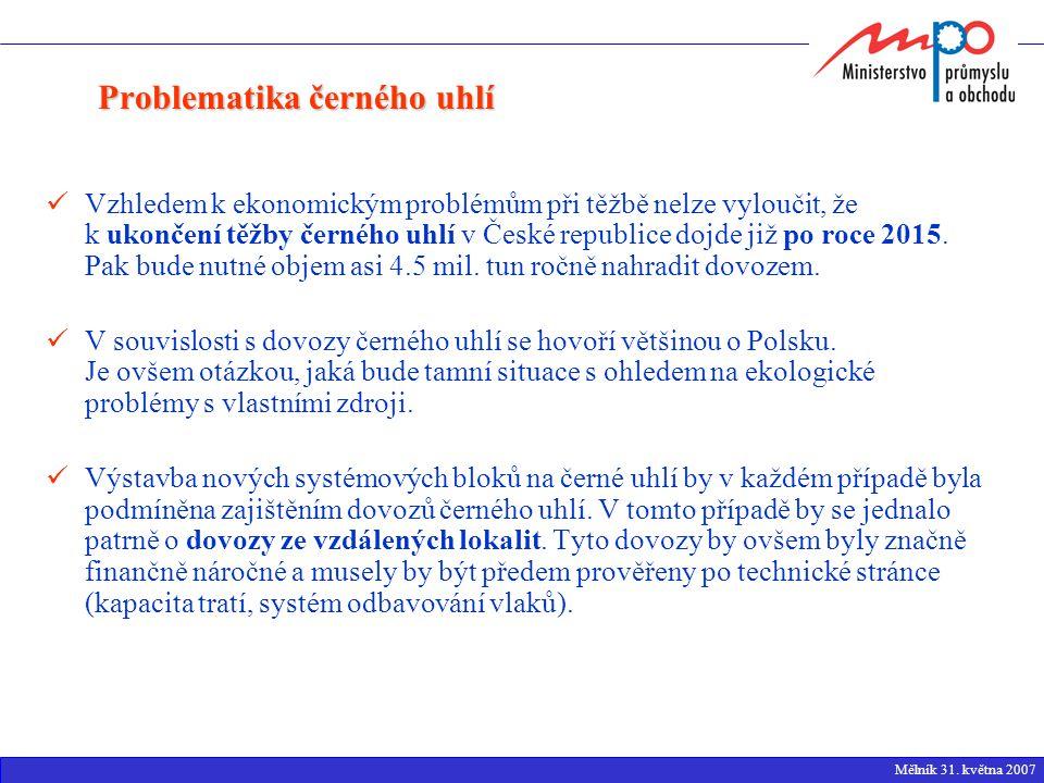 Vzhledem k ekonomickým problémům při těžbě nelze vyloučit, že k ukončení těžby černého uhlí v České republice dojde již po roce 2015.