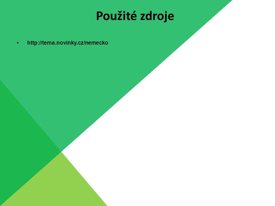 Použité zdroje http://tema.novinky.cz/nemecko