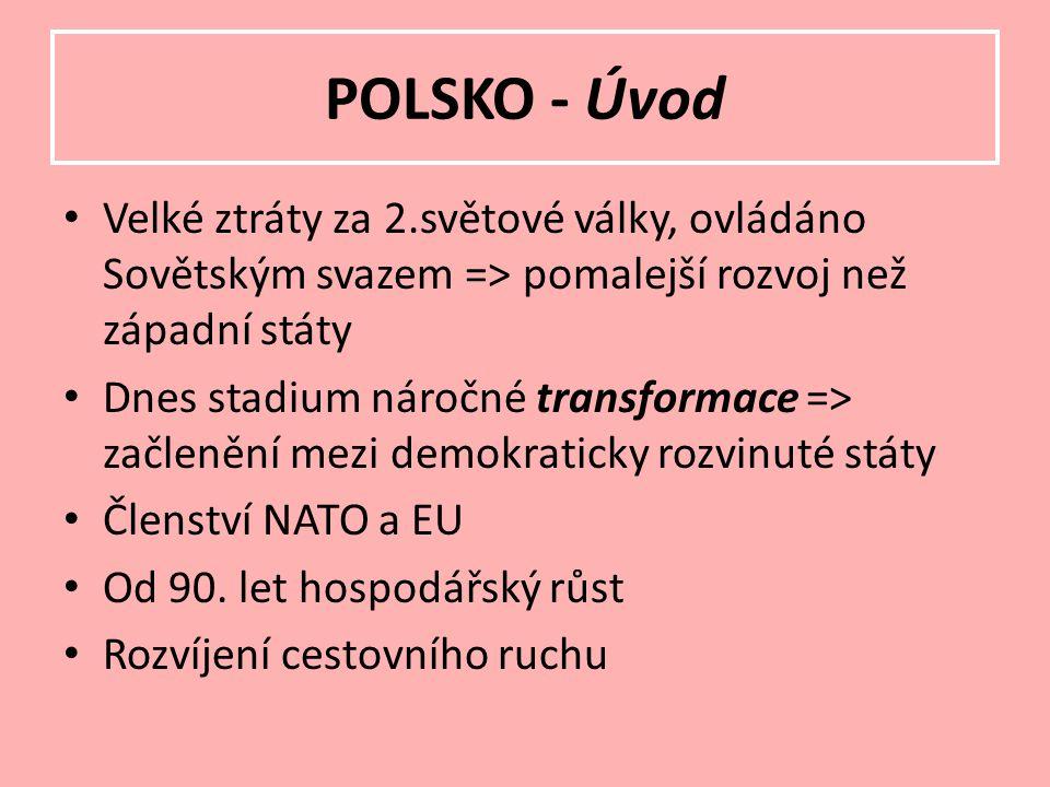Polsko se dělí na 16 vojvodství: