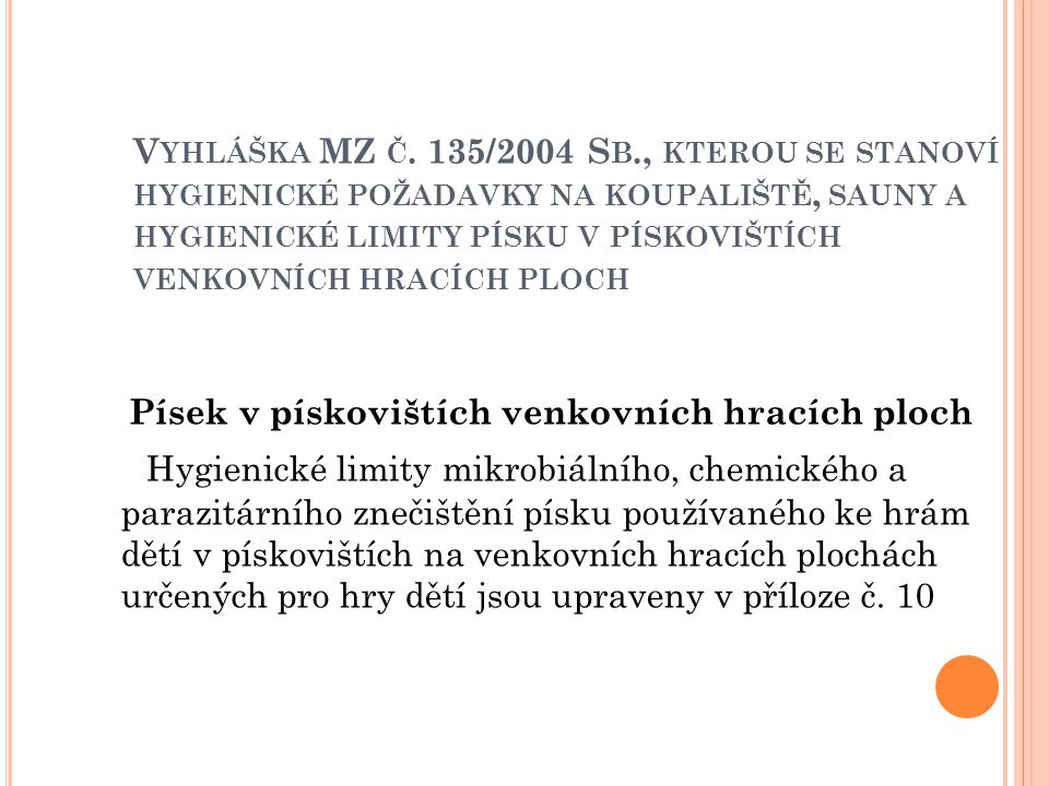 V YHLÁŠKA MZ Č.