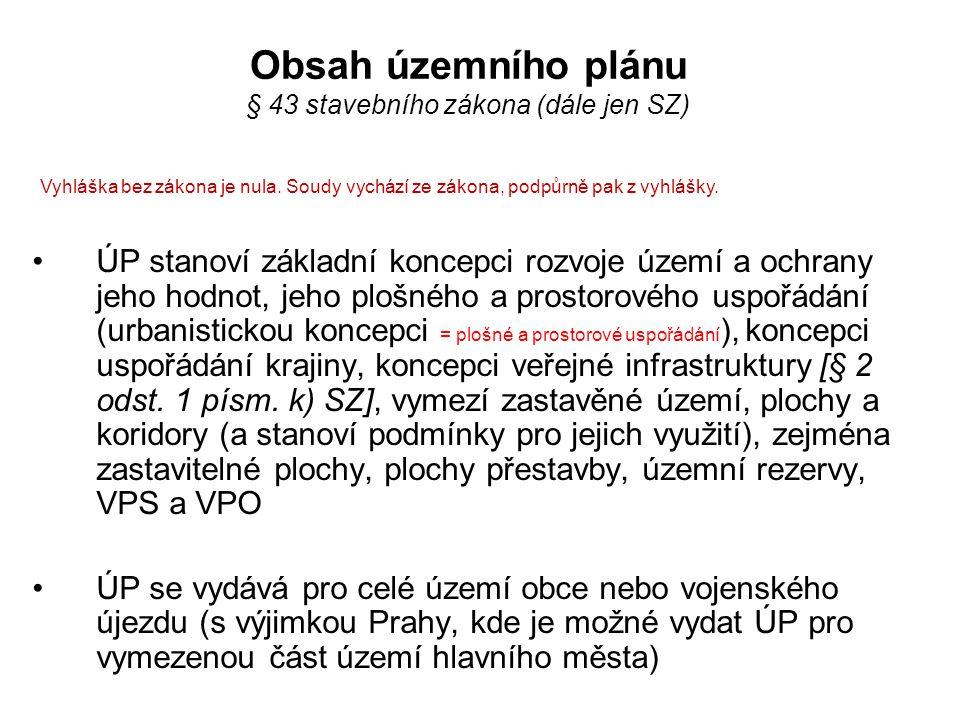 Obsah územního plánu § 13 a příloha č.7 k vyhlášce č.