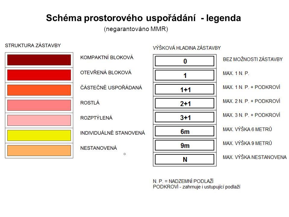 Schéma prostorového uspořádání - legenda (negarantováno MMR)