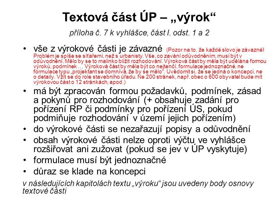 Odůvodnění – osnova textové části (zde jen osnova, podrobněji v dalších snímcích) Textová část odůvodnění obsahuje (po spojení požadavků SZ, správního řádu a části II.