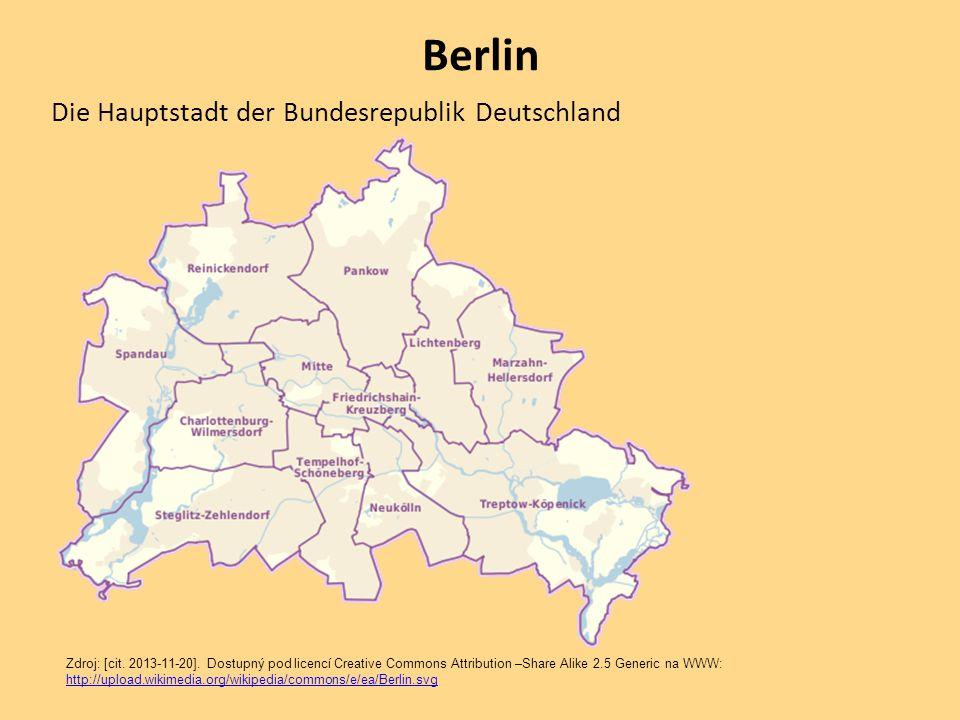 Berlin Die Hauptstadt der Bundesrepublik Deutschland Zdroj: [cit. 2013-11-20]. Dostupný pod licencí Creative Commons Attribution –Share Alike 2.5 Gene