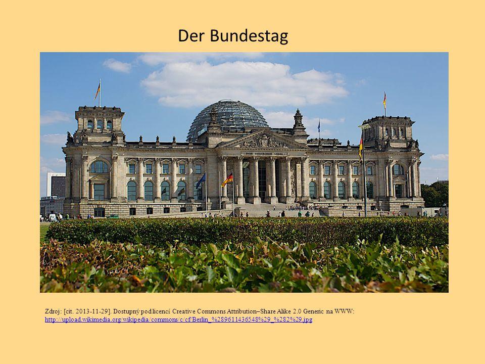 Der Bundestag Zdroj: [cit. 2013-11-29]. Dostupný pod licencí Creative Commons Attribution–Share Alike 2.0 Generic na WWW: http://upload.wikimedia.org/