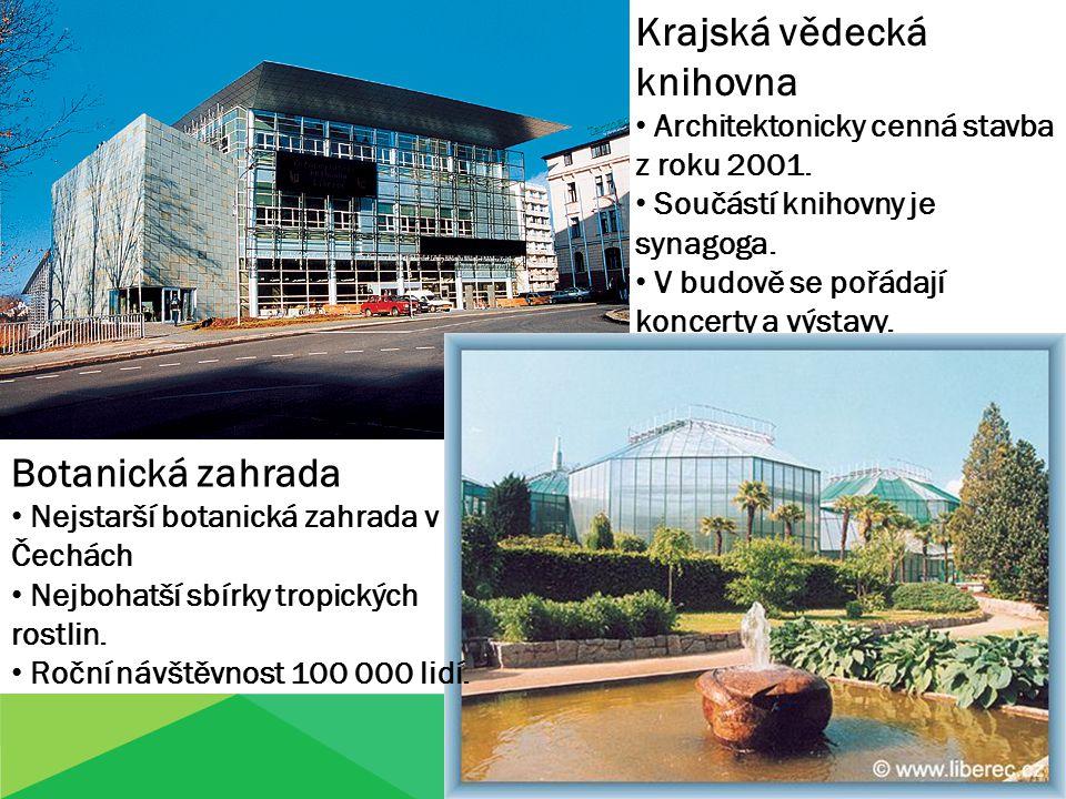 Krajská vědecká knihovna Architektonicky cenná stavba z roku 2001.