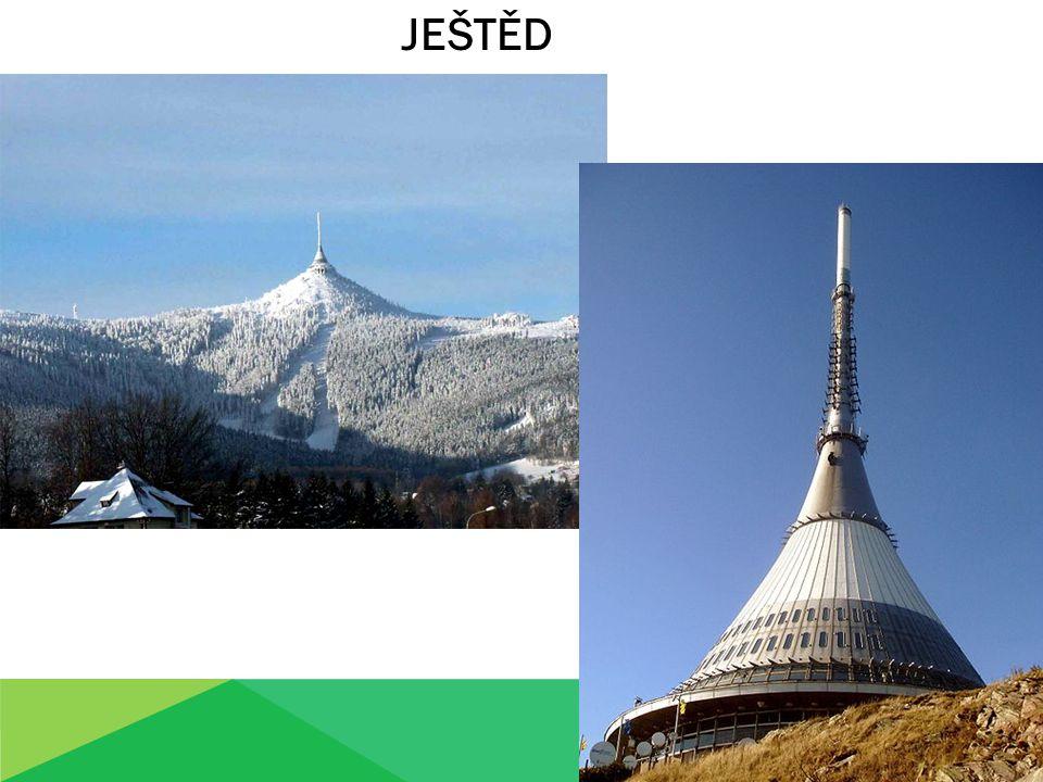 Symbolem Liberecka je hora Ještěd s dominantou vysílače.