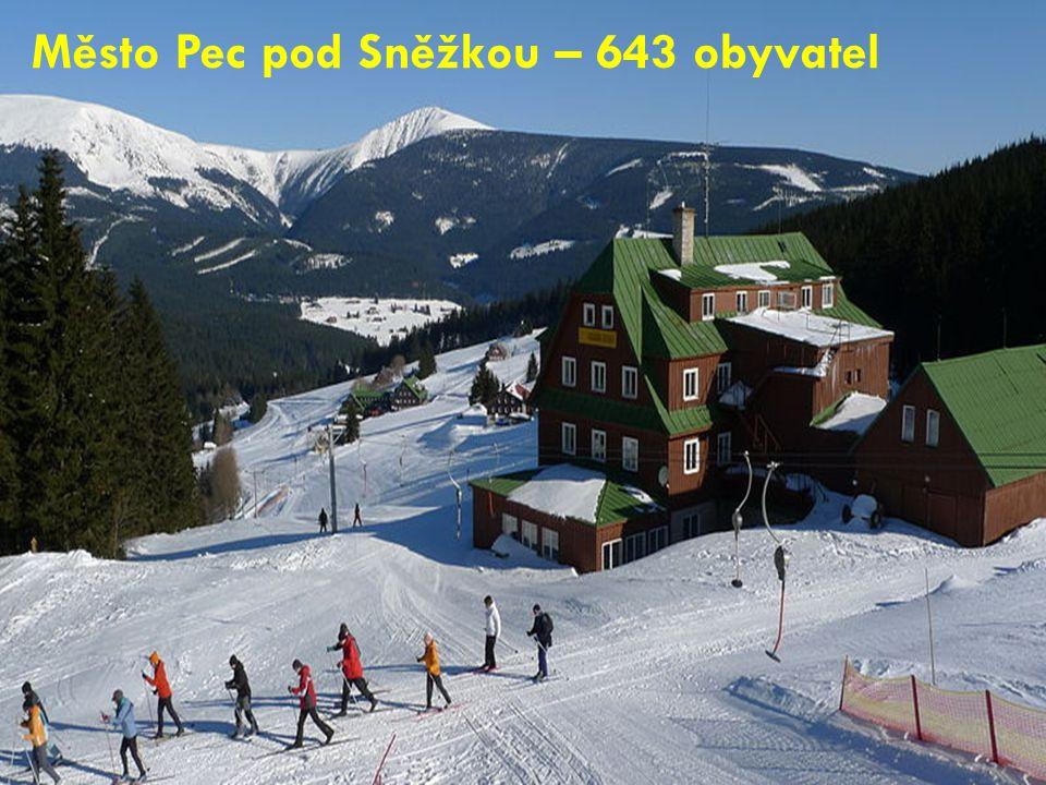 Město Pec pod Sněžkou – 643 obyvatel