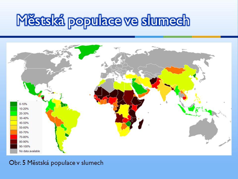 Obr. 5 Městská populace v slumech