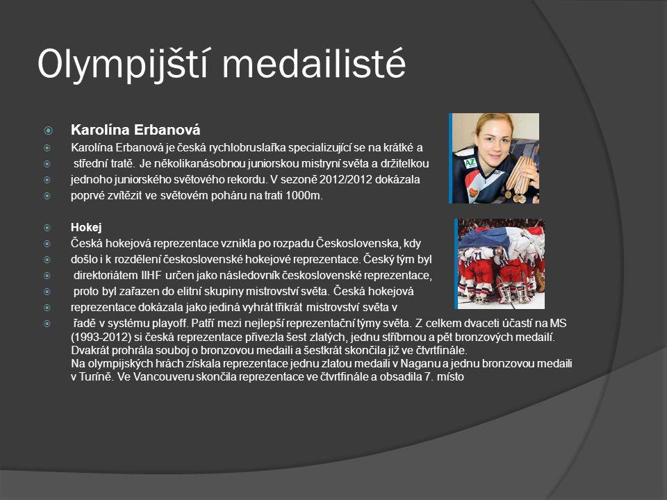 Olympijští medailisté  Karolína Erbanová  Karolína Erbanová je česká rychlobruslařka specializující se na krátké a  střední tratě.