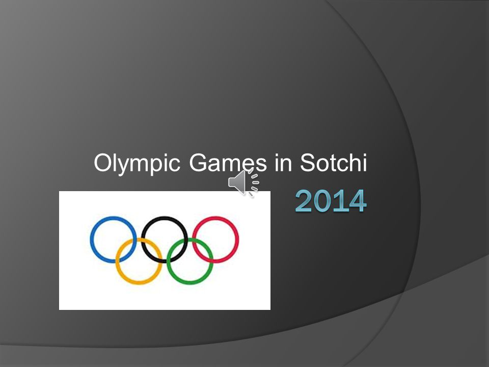 Olympic Games in Sotchi